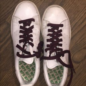 Maroon Stan Smith shoes